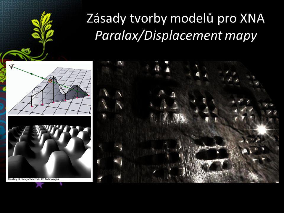 Zásady tvorby modelů pro XNA Ambient Occlusion mapy