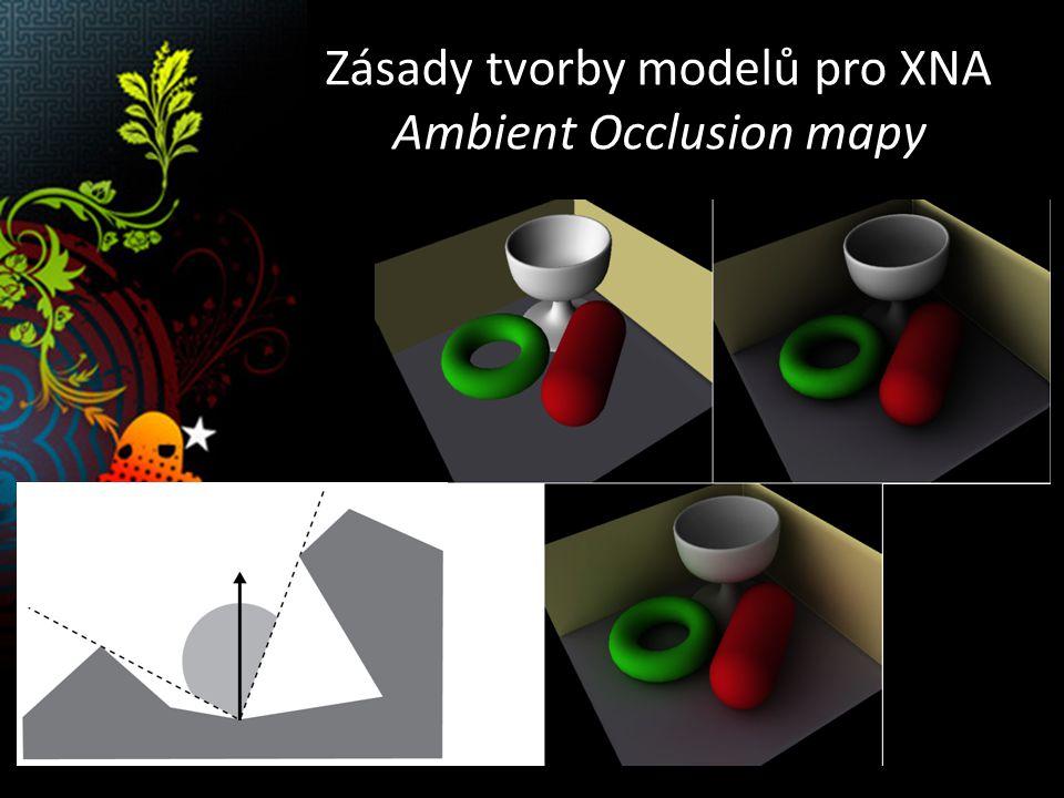 Zásady tvorby modelů pro XNA Reflection / Irradiance mapy