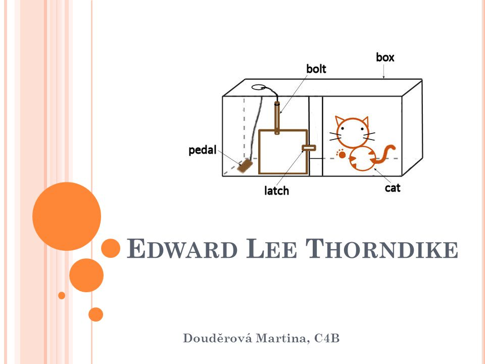 C O NÁS ČEKÁ .E. L. Thorndike E. L.