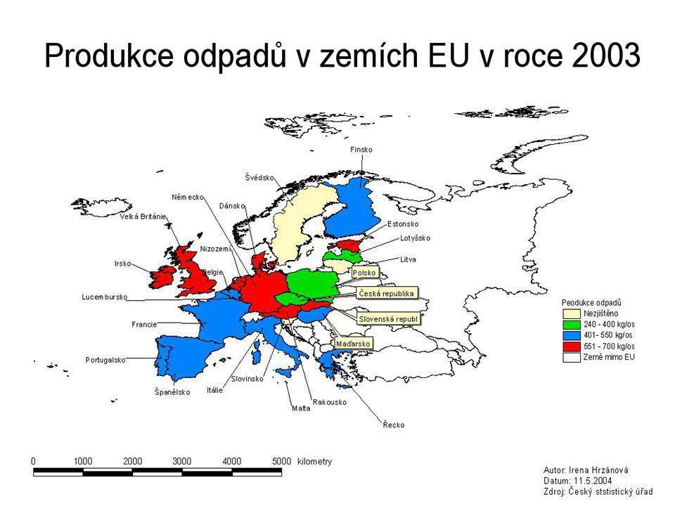 Produkce odpadů v ČR v roce 2000: 41,475 mil.tun v roce 2000: 41,475 mil.