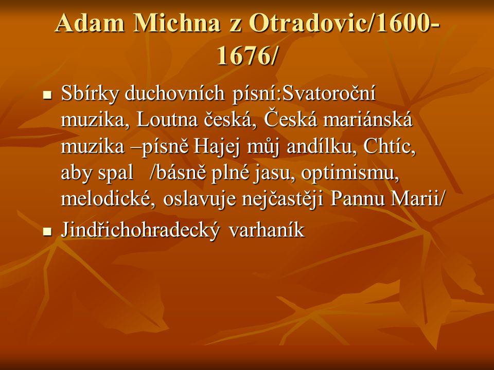 Adam Michna z Otradovic