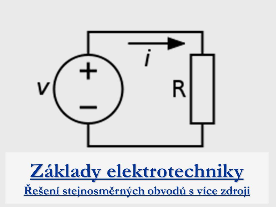 Úvod Řešení obvodů s více zdroji se využije zejména při elektrických obvodů a při výpočtu sítí.