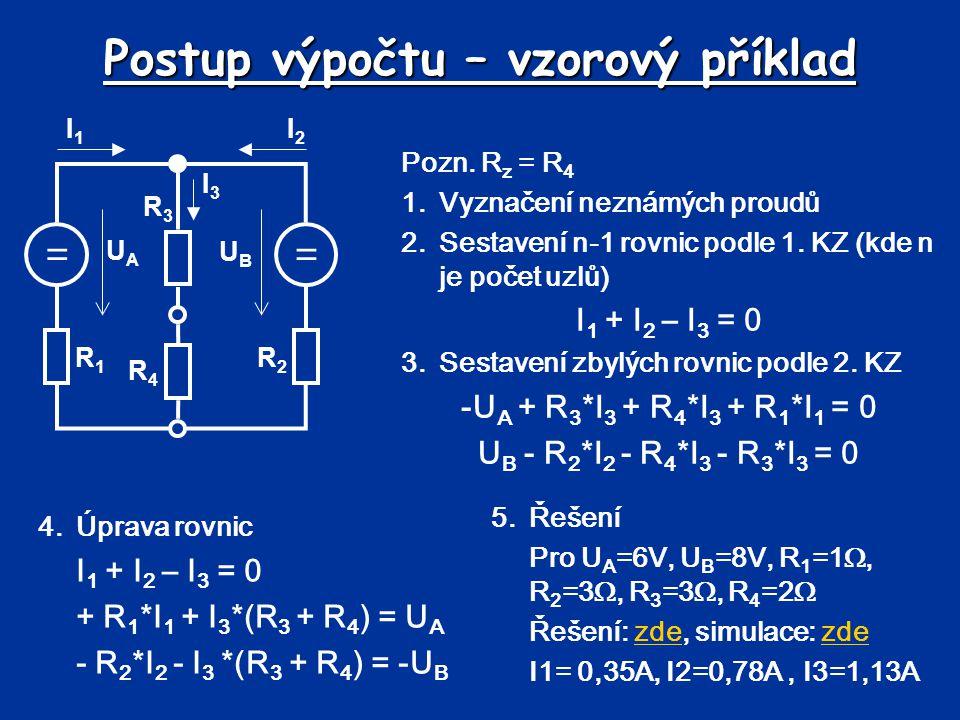 Metoda smyčkových proudů Metoda je založena na využití 2.