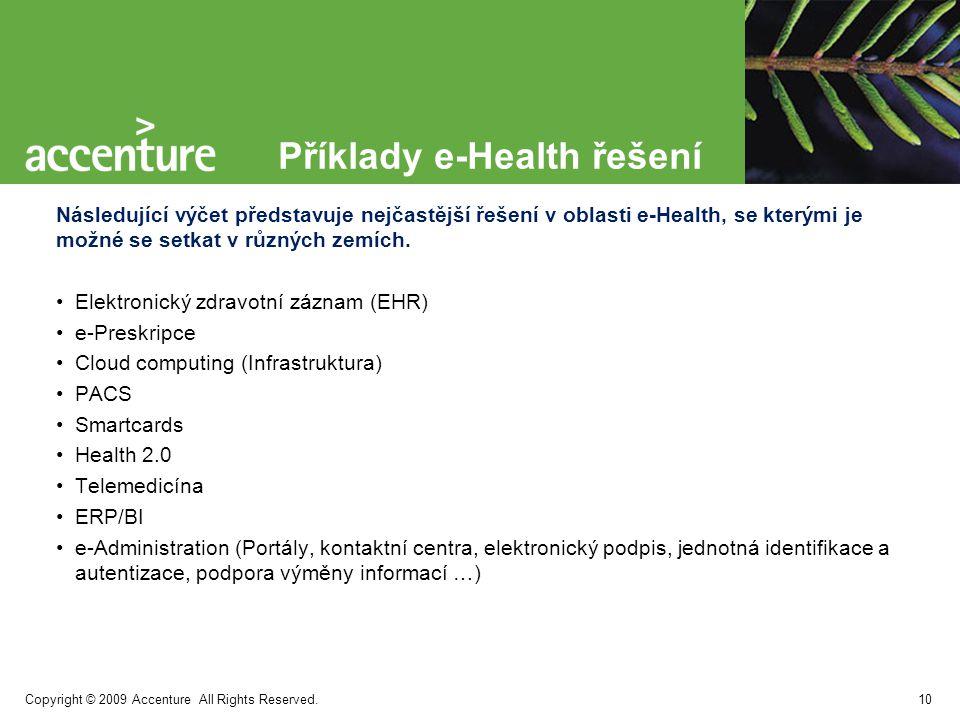 Copyright © 2009 Accenture All Rights Reserved. Evropské trendy v oblasti e-Health 11