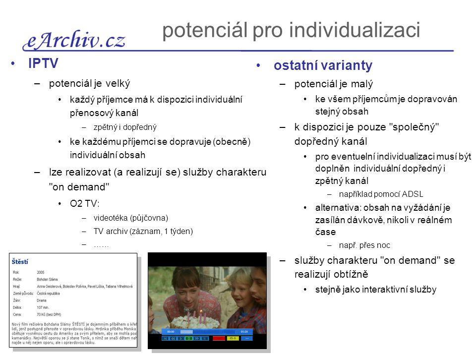 dostupnost IPTV (služba O2 TV)