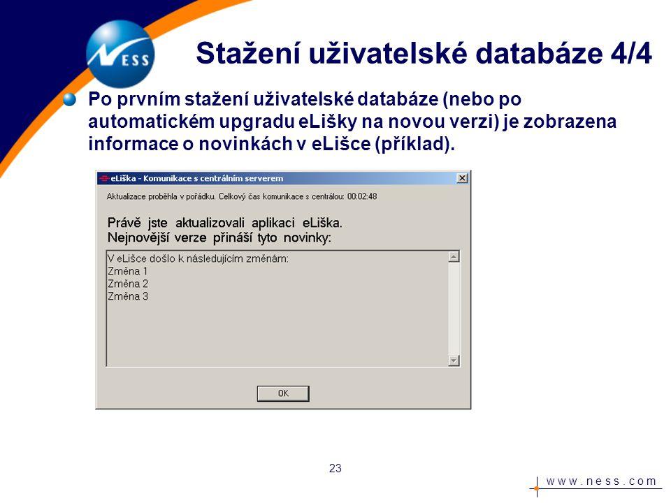 w w w.n e s s. c o m Změna hesla 1/3 Je otevřena úvodní obrazovka aplikace.