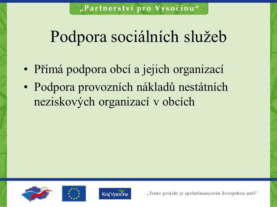 Podpora sociálních služeb obcí 10 tis.