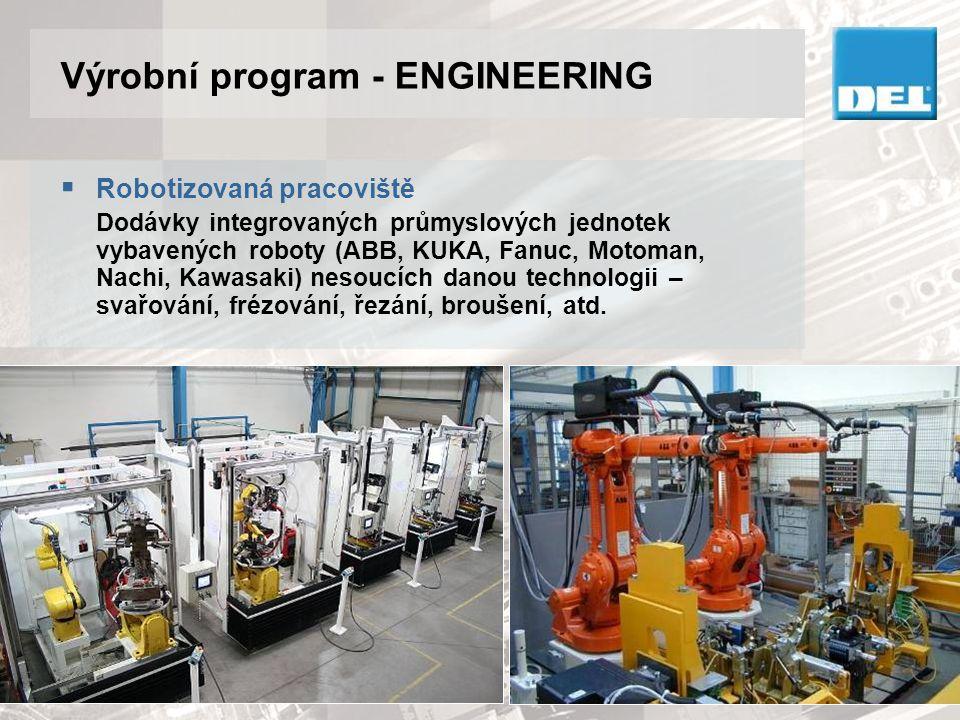 Výrobní program - ENGINEERING  Svařovací přípravky Dodávky kompletních svařovacích přípravků vybavených všemi nezbytnými pneumatickými a elektro komponenty.