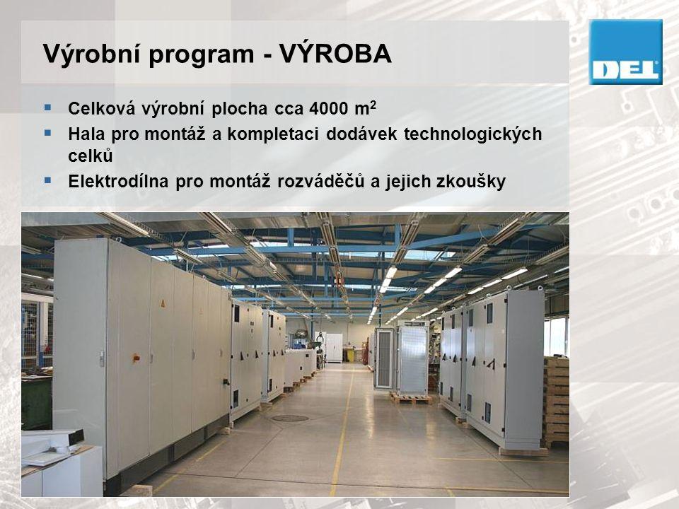 Výrobní program - VÝROBA  Klempírna pro výrobu skříní 3D laserový pálící stroj MAZAK Vysekávací stroje PULLMAX, EUROMAC Ohraňovací lisy URSVIKEN, GASPARINI, CTO80 Svařovna vč.