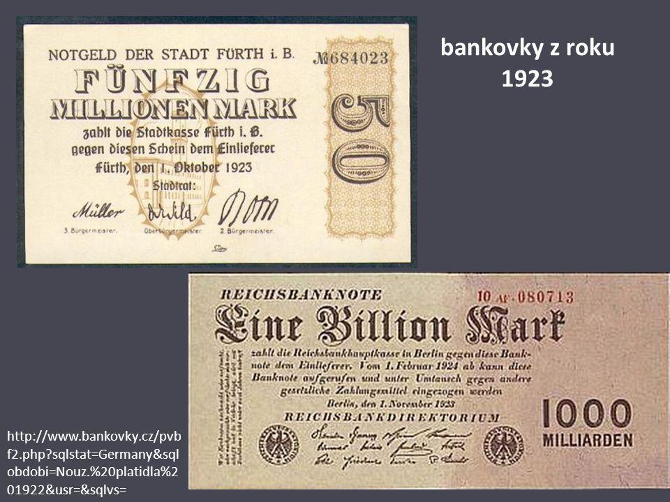 pro srovnání: vyučený dělník v Berlíně si v té době za den vydělal tři biliony marek jeden dolar obnášel 4,2 bilionu marek 15.