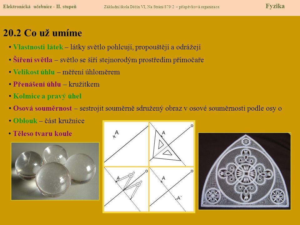 20.3 Nové pojmy Elektronická učebnice - II.