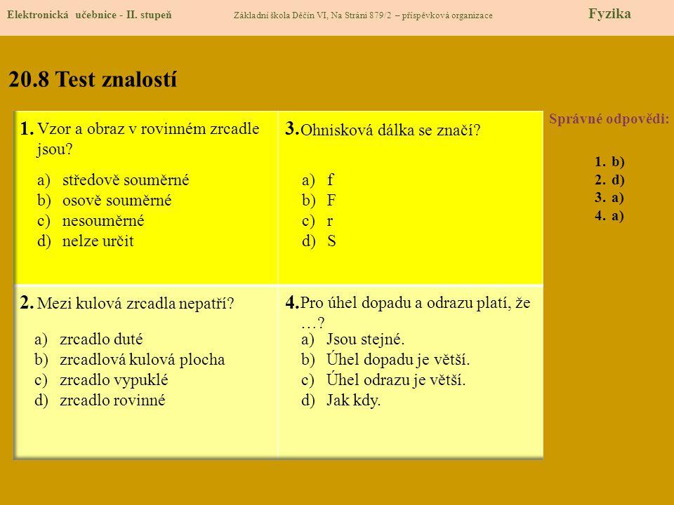20.9 Použité zdroje Elektronická učebnice - II.