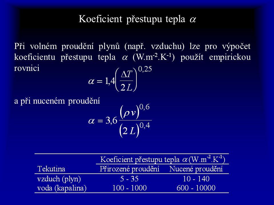 Řešení difuse tepla (závěr) Přenos tepla látkou – dřevem – je obvykle počítán jako stacionární děj podle I.