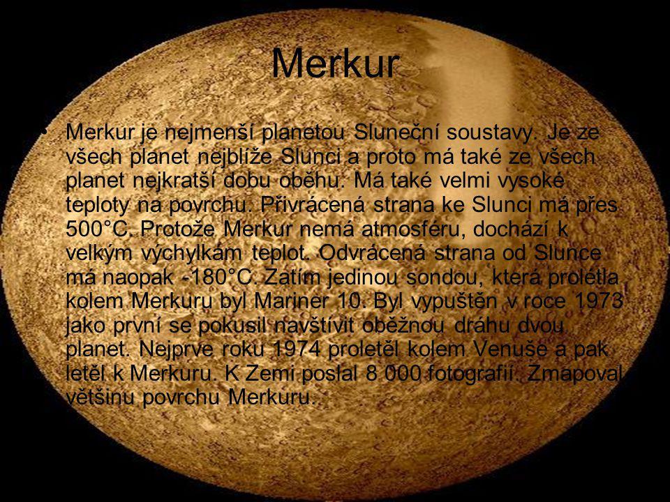 Venuše Venuše je planeta typově, rozměrově i vzdálenostně nejbližší Zemi.