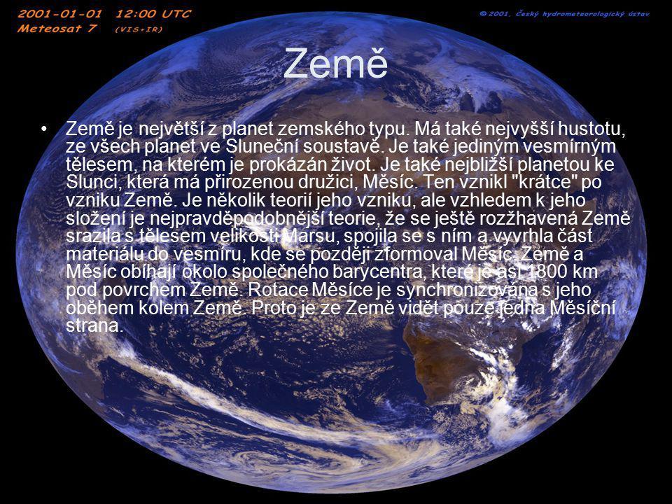Země Země má, jako všechny planety, tvar elipsoidu s malou excentricitou(přesněji má tvar geoidu).