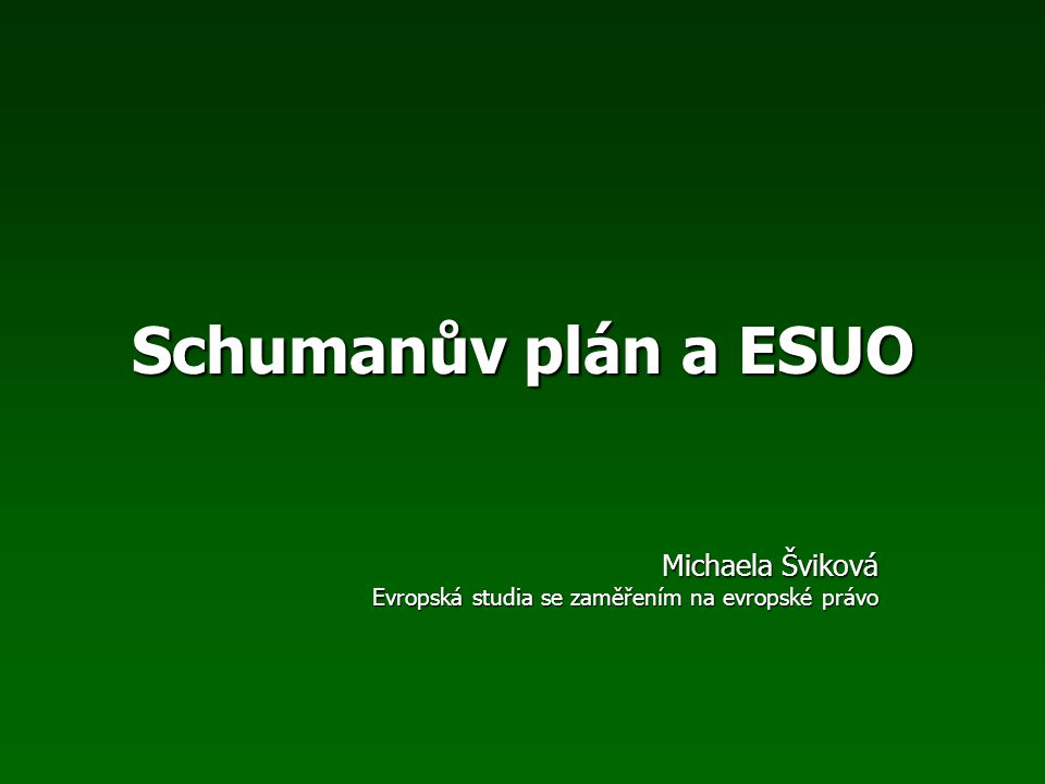 Kořeny Schumanova plánu Situace v roce 1950 vyžadovala rychlé a odvážné řešení mnoha problémů.