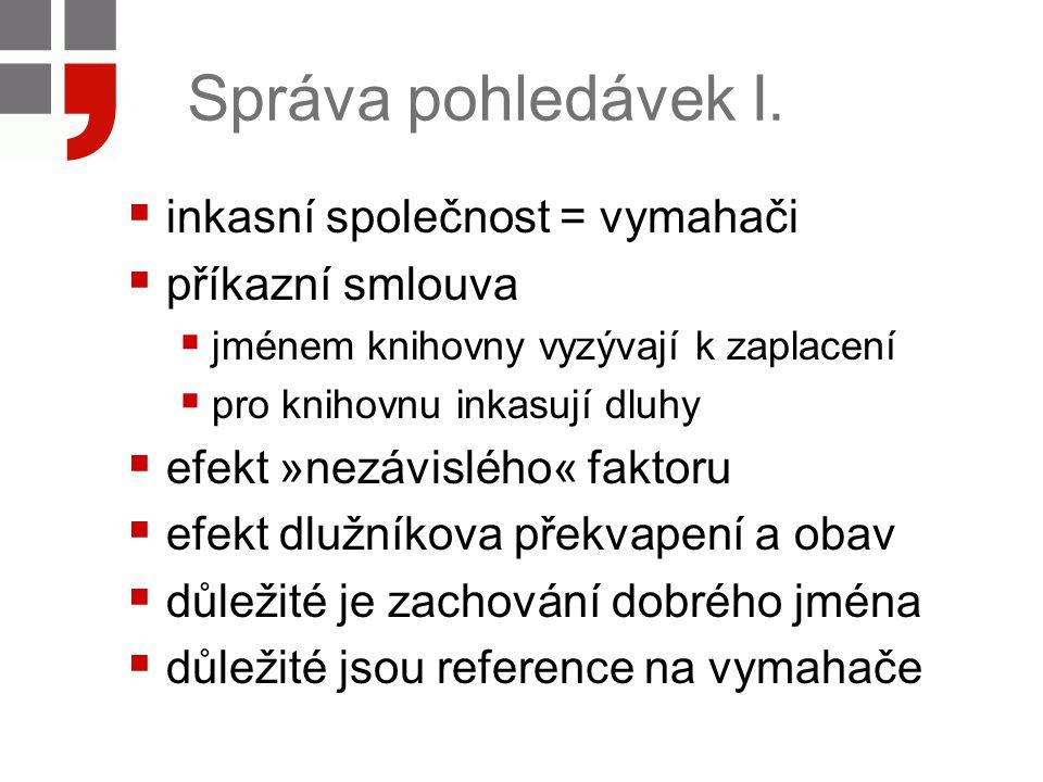 Správa pohledávek II.