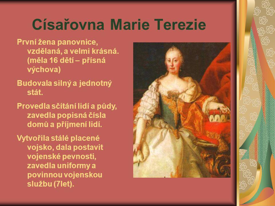 Marie Terezie Daně museli platit nejen poddaní, ale i vrchnost.