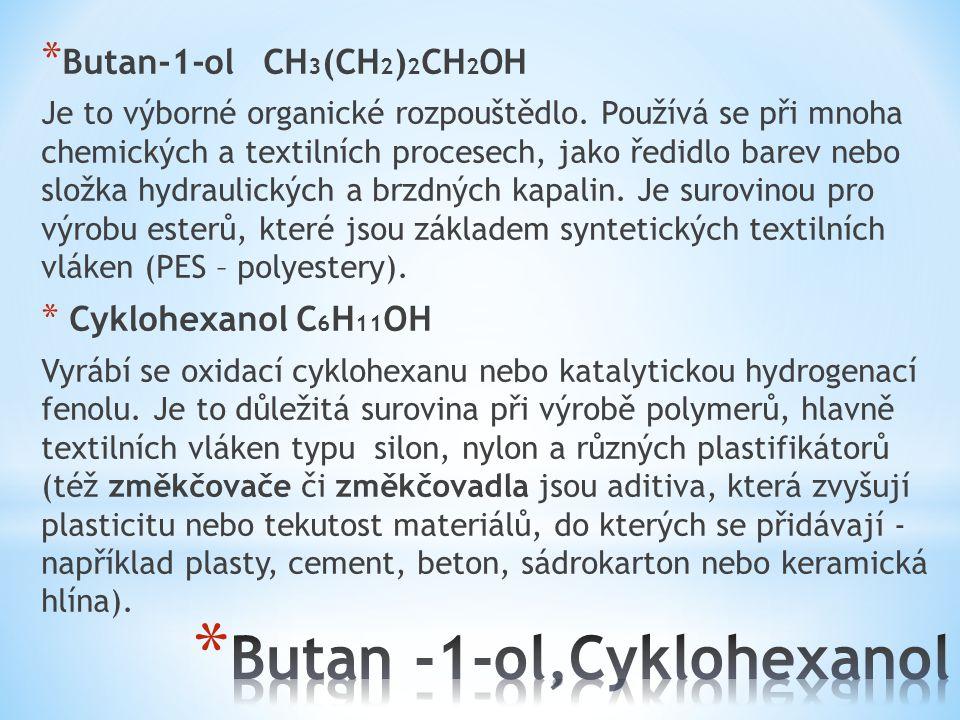 * Etylenglykol CH 2 OHCH 2 OH (glykol) Je to olejovitá kapalina nasládlé chuti, dobře mísitelná s vodou.