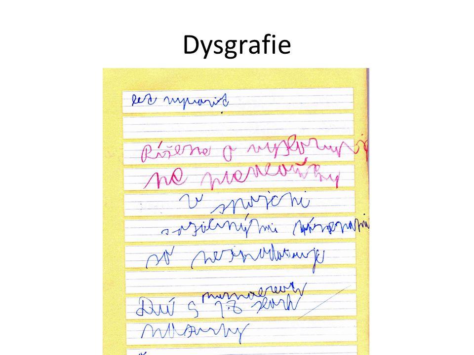 """""""Dysgrafik se nenaučil psát, ačkoliv netrpí žádnou smyslovou vadou ani žádnou závažnou poruchou pohybovou a ačkoliv nemá žádné závažné nedostatky v oblasti inteligence ani v oblasti citových vztahů. (Matějček, Z."""