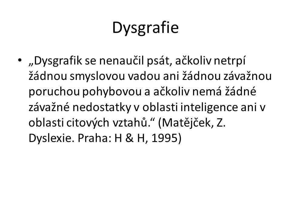 Náprava (reedukace) dysgrafie Cvičení rozvíjející jemnou motoriku a senzoricko - motorickou koordinaci – provlékadla, tzv.