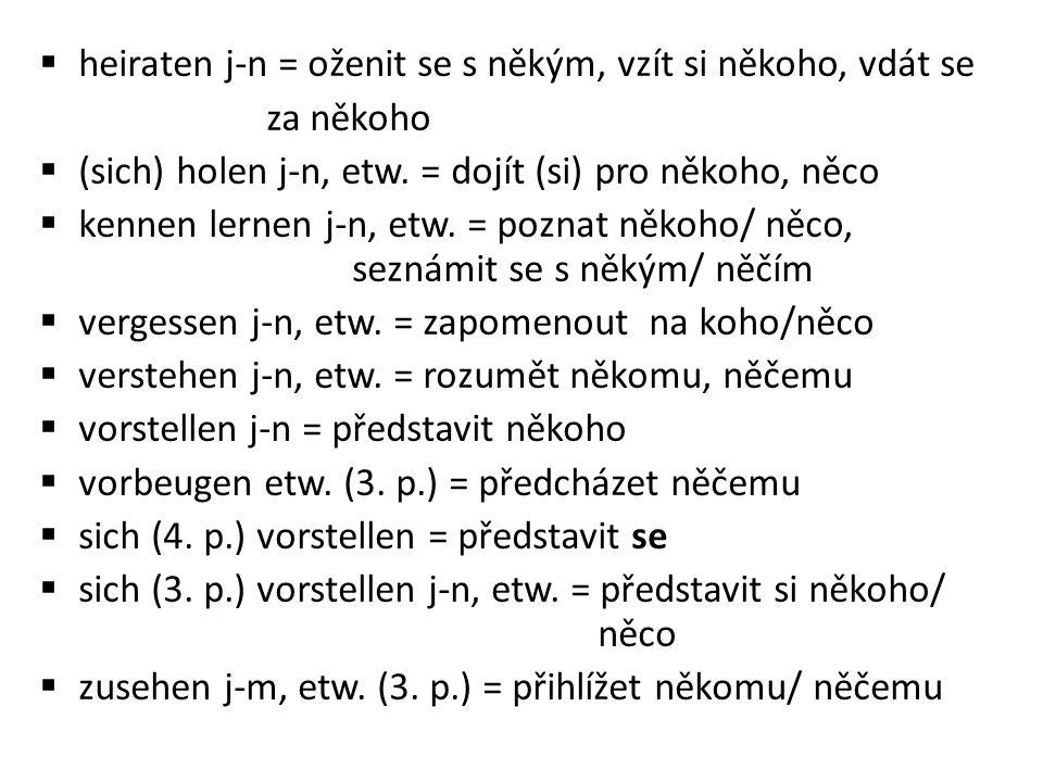 Vazby s předložkou:  ankommen auf etw.(4.