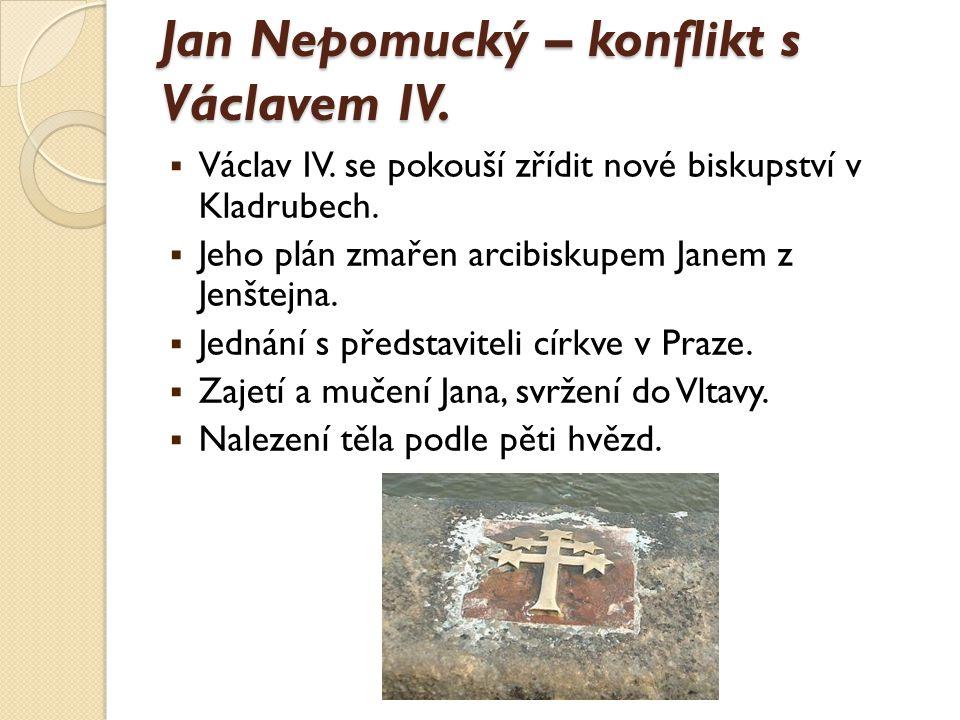Jan Nepomucký – legenda nebo historická fakta. Legenda: zachování zpovědního tajemství královny.