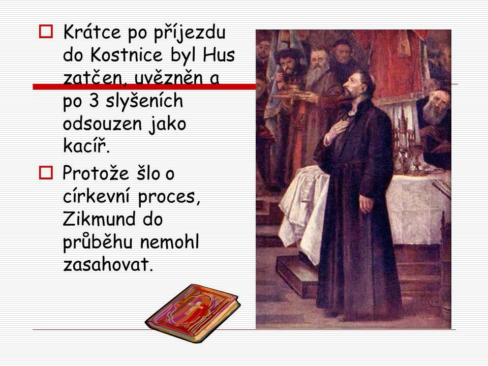  Koncil nutil Husa, aby se podrobil a odvolal své názory.