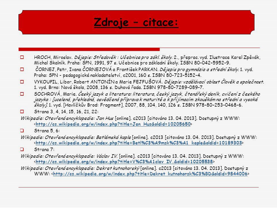  Strana 9, 10: Wikipedie: Otevřená encyklopedie: Kozí Hrádek [online].