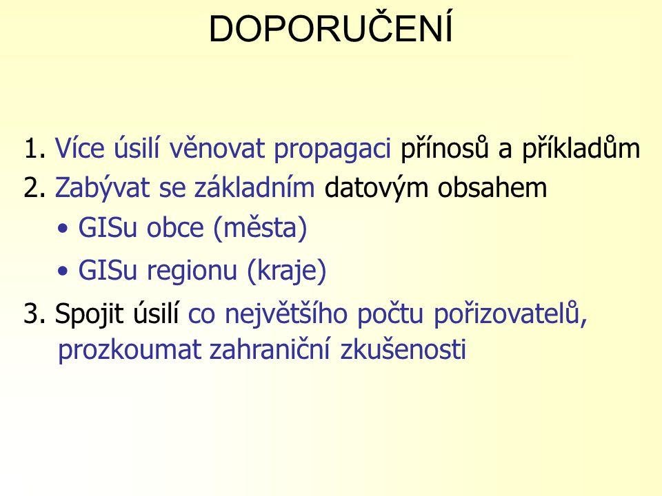 DOPORUČENÍ 4.Zainteresovat starosty, radní a zastupitele obcí, sdružení obcí, krajů 5.