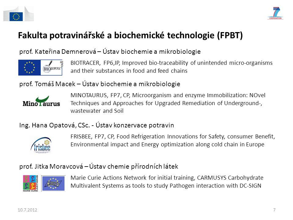 Fakulta chemické technologie (FCHT) prof.