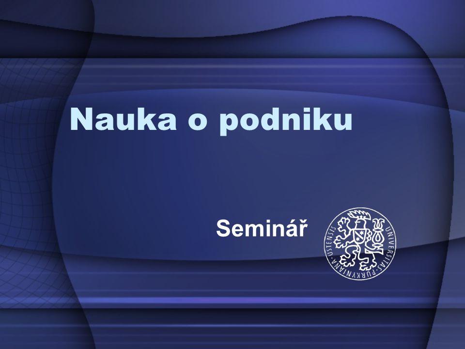 Požadavky Prezenční studium –Prezentace dílčí kapitoly společného podnikatelského planu http://fzp.ujep.cz/~vosatka/ http://fzp.ujep.cz/~vosatka/ 2