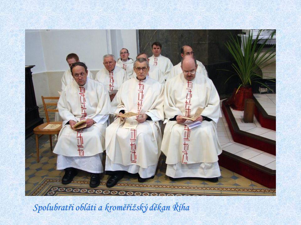 Spolubratři obláti a kroměřížský děkan Říha