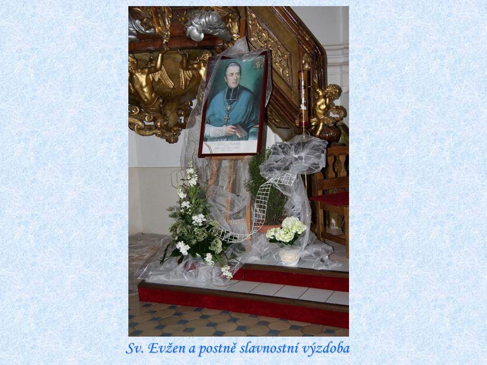 Sv. Evžen a postně slavnostní výzdoba