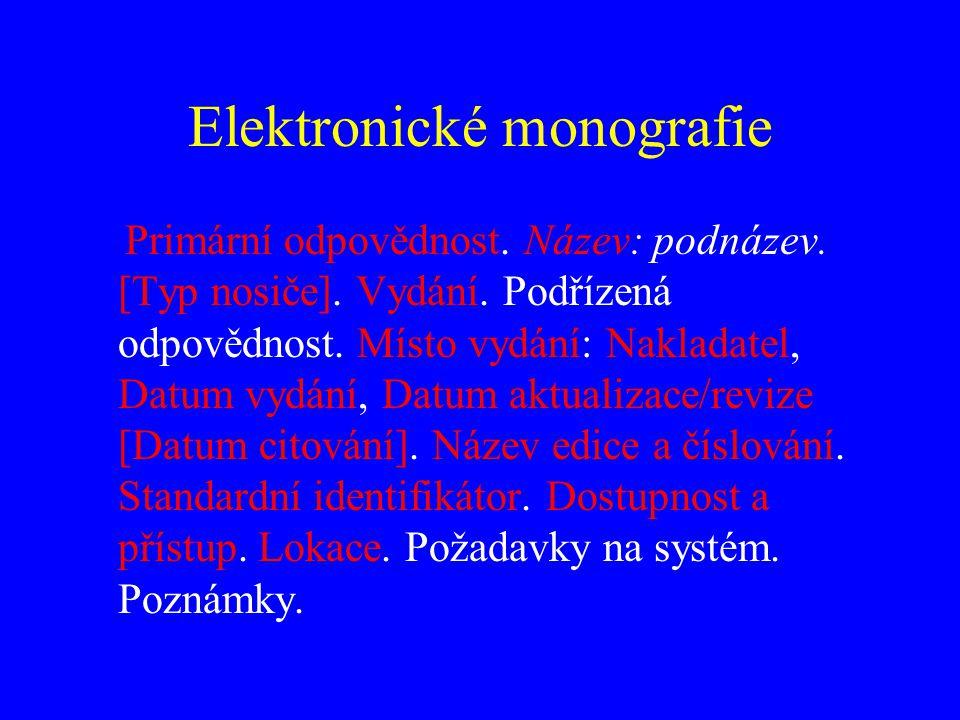 Elektronická monografie BRATKOVÁ, Eva.