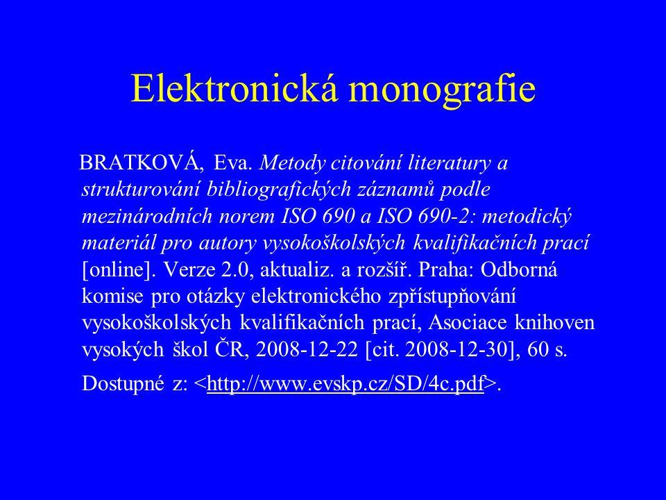 Článek v elektronickém časopise Jméno tvůrce příspěvku.