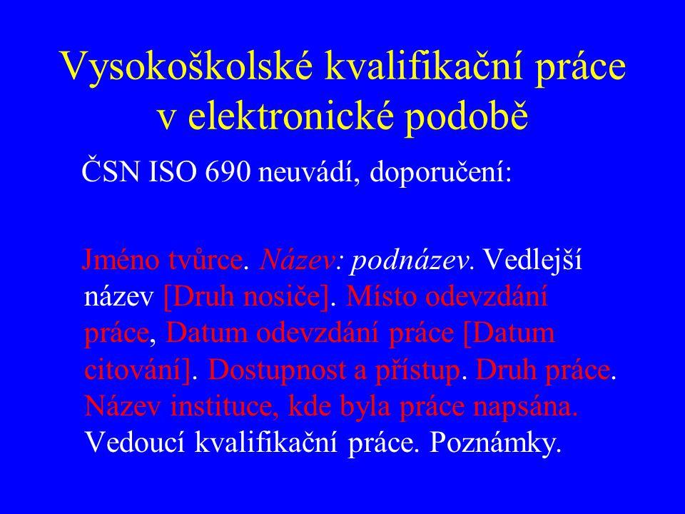 Vysokoškolské kvalifikační práce RYBNÍČKOVÁ, Simona.