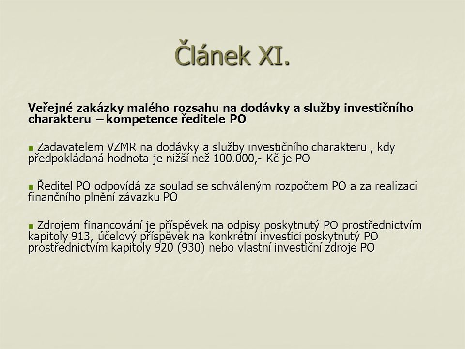 Článek XII.