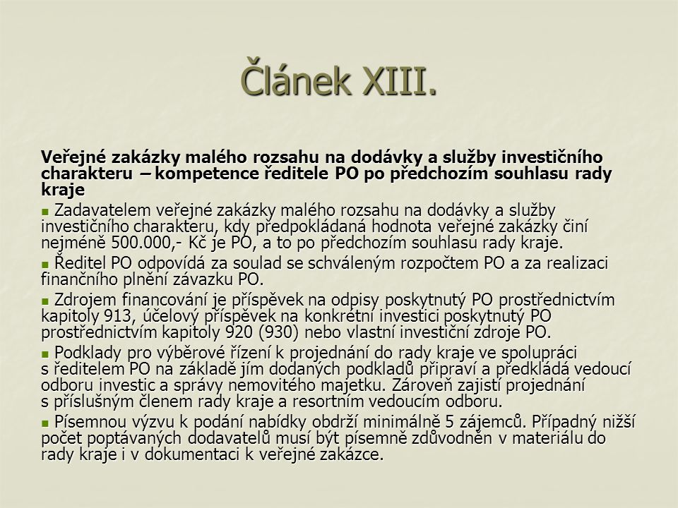 Článek XV.