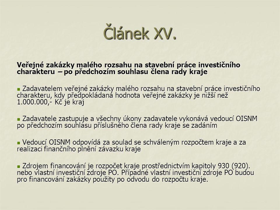 Článek XVI.