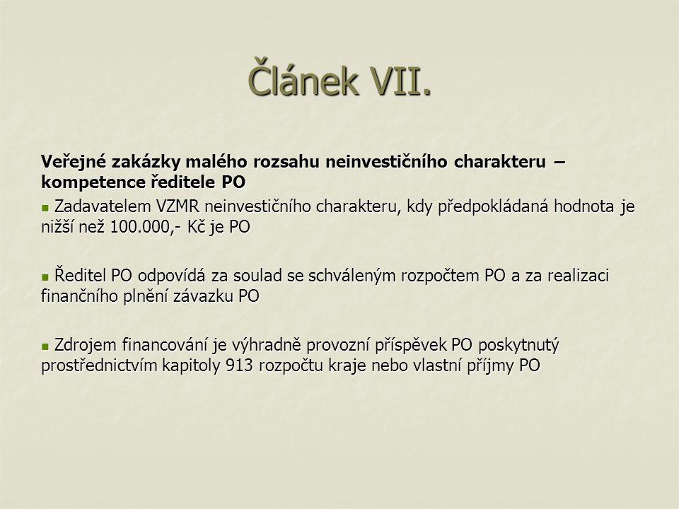 Článek VIII.