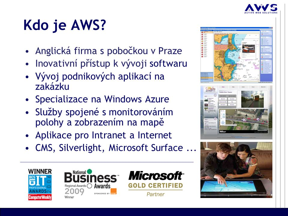 Michal Kruml, Software developer Konference Microsoft Visual Studio 2010, 20.4.2010 Monitorovací a záchranný systém hostovaný ve Windows Azure