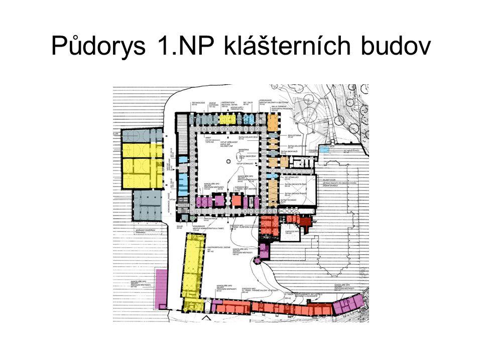 Půdorys 2. NP klášterních budov
