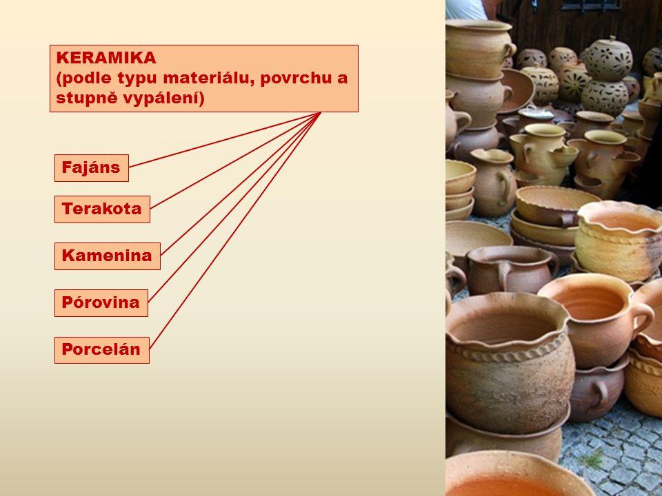 http://www.muzeum-vyskovska.cz/expozice/keramika/ Fajáns – výrobek pokrytý bílou neprůhlednou glazurou