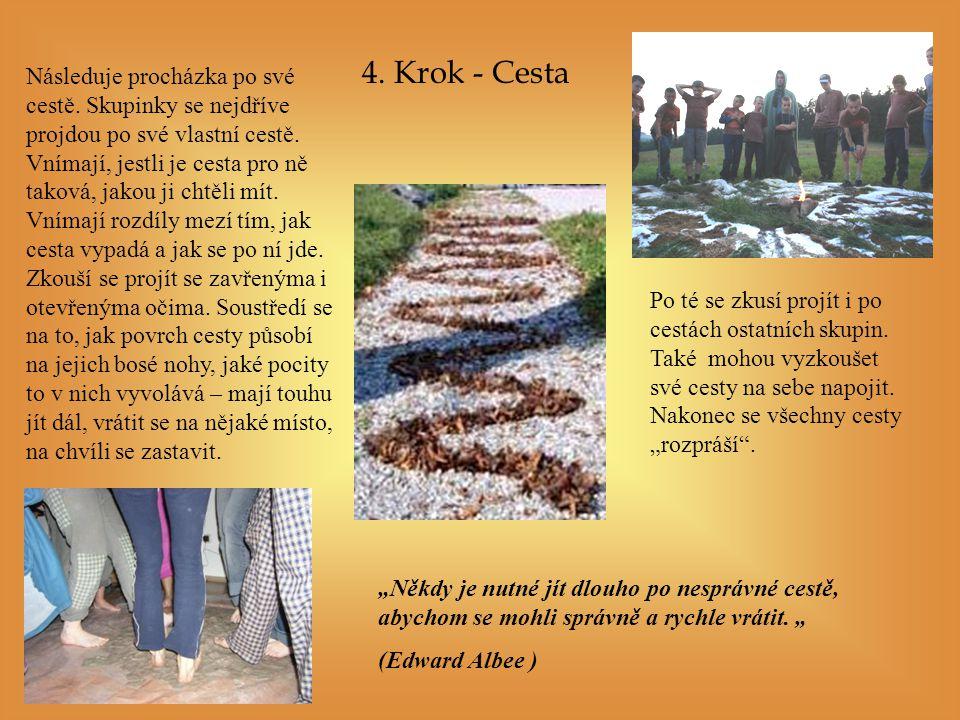 4.Krok - Cesta Následuje procházka po své cestě.