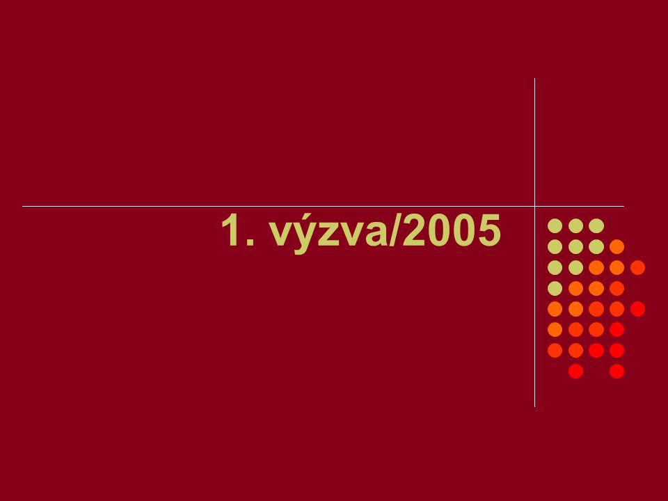 Finanční mechanismy EHP/Norsko – 1.výzva/2005 18.5.