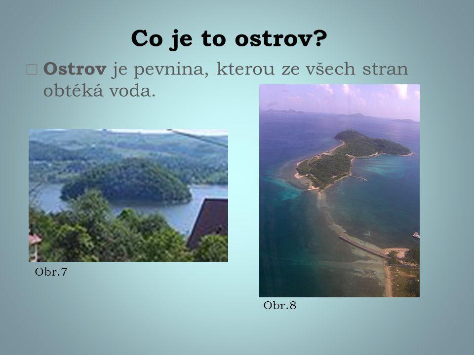 Co je to poloostrov?  Poloostrov je výběžek pevniny do moře. Obr.9