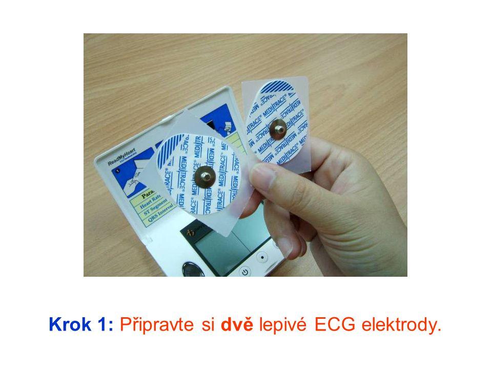 Krok 2: Připevněte lepivé elektrody na kabel.