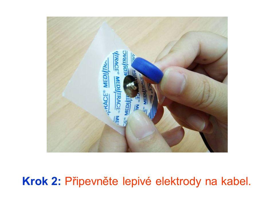 Krok 3: Poté přilepte elektrody doprostřed vnitřní strany vašeho předloktí.