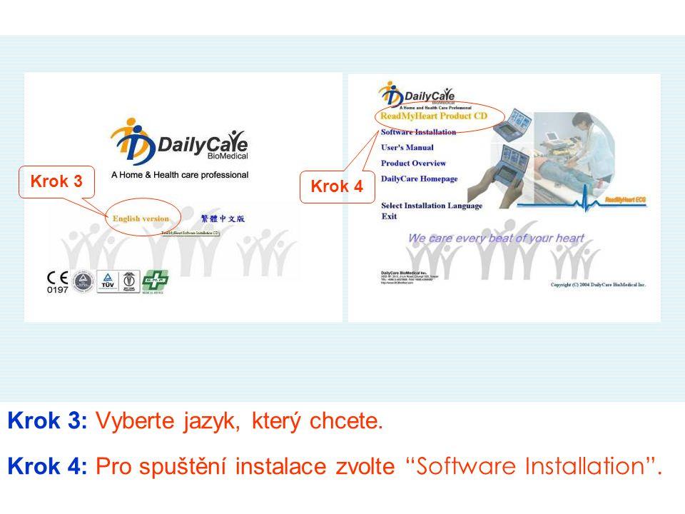"""Krok 5, 6: Po dokončení instalace se na ploše počítače objeví ikona """"DailyCare Krok 5 Krok 6 Mobile ECG"""